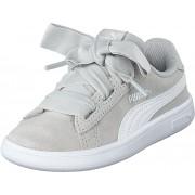 Puma Puma Smash V2 Ribbon Ac Inf Gray Violet-puma White, Skor, Sneakers & Sportskor, Sneakers, Vit, Barn, 25