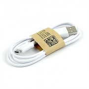 USB Data Cable Charging Cable For Lava Android Smart Mobile Phone White Color 1 Meter Long