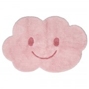 Miliboo Kinderteppich aus Baumwolle Rosa 75x115cm NIMBUS
