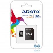 Memoria MicroSD SDHC Adata 32 GB C/Adaptador Clase 4 AUSDH32GCL4-RA1-Negro