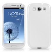 Samsung I9300 Galaxy S III Силиконов Калъф Бял + Протектор