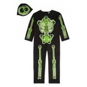 Costum Halloween copii schelet fosforescent