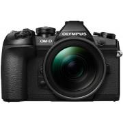 Aparat Foto Mirrorless Olympus E-M1 MARK II Body, 20.4 MP, Filmare 4K, WI-FI + Obiectiv Dublu zoom Kit PRO (Negru)