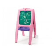 Tabla dubla pentru copii - Easel for Two - Culoare Roz