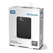 """HDD EXTERNAL 2.5"""", 1500GB, WD Elements, USB3.0, Black (WDBU6Y0015BBK)"""