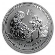 Lunární série II. stříbrná mince 0,5 AUD Year of the Monkey Rok opice 1/2 Oz 2016