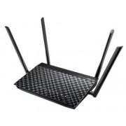 Router Wireless ASUS DSL-AC55U, Gigabit, Dual Band, 1200 Mbps, VDSL2/ADSL Modem, 4 Antene externe (Negru)