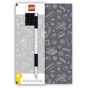 Bullyland LEGO® Notizbuch Grau mit einem Gel-Pen grau