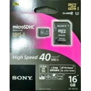 Sony 16 GB MicroSDHC Class 10 Memory Card(With Adapter)