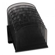 Mesh Desk Organizer, Eight Sections, Steel, 11 1/4 X 10 7/8 X 13 3/4, Black