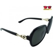 Polo House USA Oval Sunglasses(Black)