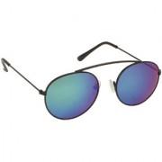 Arzonai Flynn MA-199-S4 Oval Unisex Green Sunglasses