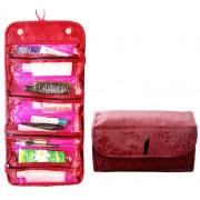 Taška na kosmetiku rolovací červená 407-26