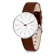 Arne Jacobsen Clocks Armbandsur Bankers Vit/brun 34 mm Arne Jacobsen Clocks