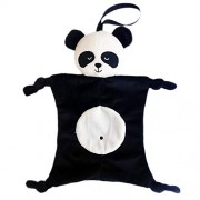 Fancyku Baby Bibs,Soothing Towel, Soft Comforting Plush Doll Toy,Babies Plush Soothing Toys, Baby Appease Towel, Comforting Towel for Baby (Panda)