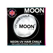 Vegaoo Vit UV-färgkräm för hårslinga Moonglow© 3,5 g One-size
