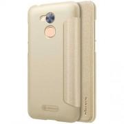 NILLKIN SPARKLE műanyag védő tok / hátlap - ARANY - oldalra nyíló flip cover - Huawei Honor 6A - GYÁRI
