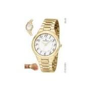 Relógio Champion Dourado Feminino Analógico Ch22368h