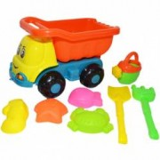 Camion pentru joaca in nisip cu forme de nisip unelte si stropitoare