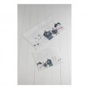 Chilai Home by Alessia Sada 2 bílo-šedých koupelnových předložek Lismo Cats