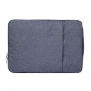 13.3 inch Universal Fashion Soft Laptop Denim Bags Portable Zipper Notebook Laptop Case Pouch for MacBook Air / Pro Lenovo and other Laptops Size: 35.5x26.5x2cm (Dark Blue)