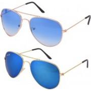 Silver Kartz Aviator Sunglasses(Blue)
