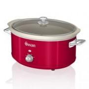 Oala electrica Slow cooker Swan SF17031RN, Retro, Capacitate 6.5 Litri, Vas ceramic, Putere 320W