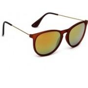 Eyeland Cat-eye Sunglasses(Brown, Golden)