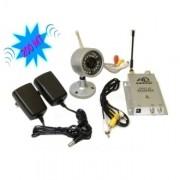 Kit videosorveglianza wireless ricevitore 200m con telecamera ad infrarossi
