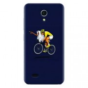 Husa silicon pentru Allview A5 Easy ET Riding Bike Funny Illustration