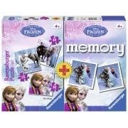 Puzzle + Joc Memory Frozen 3 Buc In Cutie 25/36/49 Piese