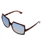 Aligatorr Stylish Blue Double Shade MSM Unisex UV400 Sunglass