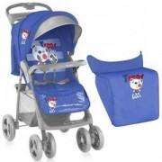 Детска количка с покривало Foxy - Blue Soccer, Lorelli, 075669