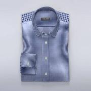 Tailor Store Smårutig skjorta i navy/blått