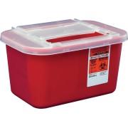 Devon Sharps Container with Clear Lid 1 Gallon Part No. 31143699 Qty Per Case