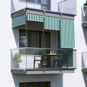 Jarolift Roleta na balkon/markiza pionowa, Promocja, Zielono-biała, 140x240cm