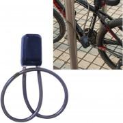 Bicycle Password Alarm IP44 Waterproof Burglar Vibration Alarm (Black)