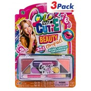 Color Me Cutie Beauty Compact by 2GoodShop | Pretend Makeup for Girls Everything You Need to Feel Beautiful Pack of 3 | Item #95
