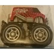 1 Mini Big Wheels/ Monster Truck - Mouvement Par Friction - Rouge-Autre