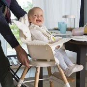High chair kinderstoel Evolu one.80° Naturel/wit