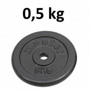 Master Fitness Skolvikt för 25 mm stång Master Fitness 0,5kg