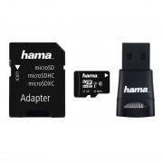 Card de memorie Hama 114788 microSDXC + Cititor de carduri + Adaptor 32GB Clasa 10 Negru