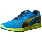 PUMA Men's Ignite Mesh Running Shoe Cloisonnee / Poseidon / Sulphur Spring 8 D(M) US