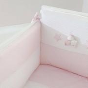 Nanan Completo Piumone Lettino Sfilabile Nanan Bombo 4pz Rosa