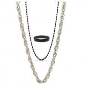Designer Yo Yo Honey singh Short Chain 18 Inch With Long Black Ball Chain 24 Inches With Black Ring At Best Price