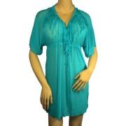Gabana tunikové šaty na plavky XL petrolejová