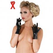 The Latex Collection Korte latex handschoenen - zwart