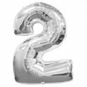Balon folie cifra 2 argintiu