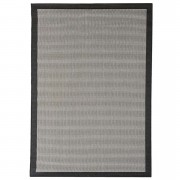Floorita binnen/buitentapijt Chrome - zwart - 135x190 cm - Leen Bakker