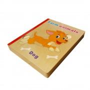 Animale domestice - Prima mea carte cu puzzle din lemn
